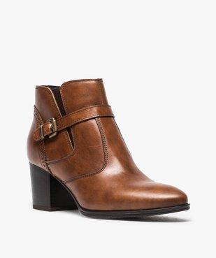 Boots pour femme avec bride et boucle métallique sur le côté vue2 - GEMO(URBAIN) - GEMO