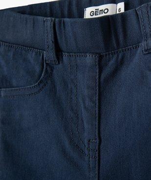 Pantalon fille skinny uni à taille élastiquée vue2 - GEMO (ENFANT) - GEMO