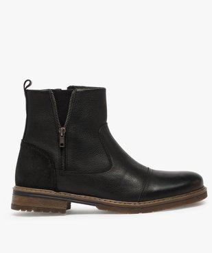 Boots homme zippés dessus cuir et doublure chaude vue1 - Nikesneakers (CASUAL) - Nikesneakers