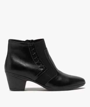Boots femme confort à talon dessus cuir vue1 - GEMO (CONFORT) - GEMO