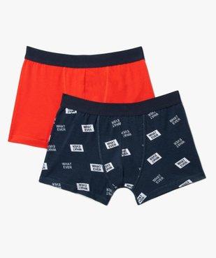 Boxers garçon uni et imprimé (lot de 2) vue1 - Nikesneakers C4G GARCON - Nikesneakers