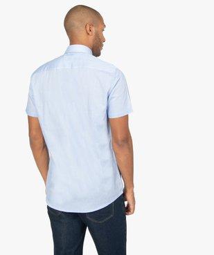 Chemise rayée à manches courtes coupe Regular vue3 - GEMO (HOMME) - GEMO