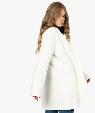 Manteau court femme en matière extensible et grand col vue5 - Nikesneakers(FEMME PAP) - Nikesneakers