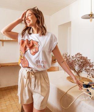 Tee-shirt femme oversize avec motif XXL - Disney vue6 - DISNEY DTR - Nikesneakers