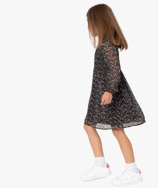 Robe fille imprimée à manches longues et buste smocké vue1 - Nikesneakers (ENFANT) - Nikesneakers