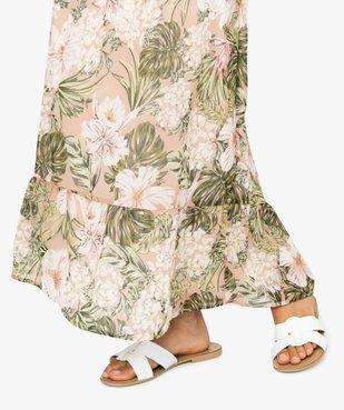 Jupe femme longue à motif tropical vue2 - Nikesneakers(FEMME PAP) - Nikesneakers