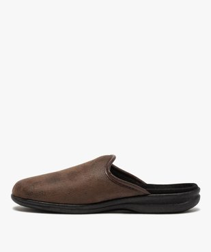 Chaussons homme mules confort imitation cuir vue3 - Nikesneakers(HOMWR HOM) - Nikesneakers