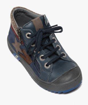 Boots garçon en cuir fermeture lacets et zip - Bopy vue5 - BOPY - GEMO