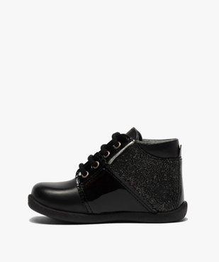 Chaussures premiers pas bébé fille en cuir détails brillants vue3 - Nikesneakers(BEBE DEBT) - Nikesneakers