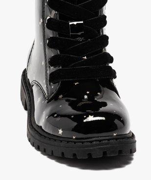 Boots fille à lacets et zip tige vernie et imprimée vue6 - GEMO (ENFANT) - GEMO