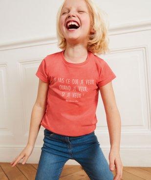 Tee-shirt fille à message pailleté - GEMO x Les Vilaines filles vue4 - VILAINES FILLES - GEMO
