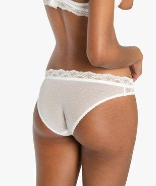 Culotte femme en dentelle et voile plumetis vue2 - Nikesneakers(HOMWR FEM) - Nikesneakers