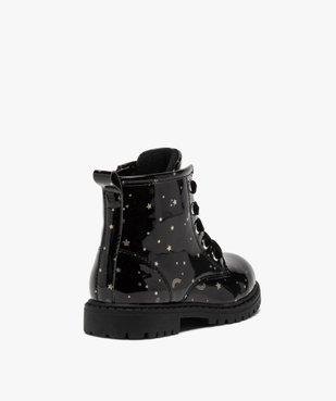 Boots fille à lacets et zip tige vernie et imprimée vue4 - GEMO (ENFANT) - GEMO