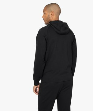 Sweat homme zippé à capuche et poches zippées vue3 - GEMO (HOMME) - GEMO
