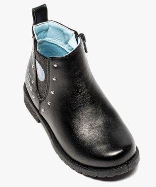 Boots fille zippés détails cloutés – La Reine des Neiges vue5 - REINE DES NEIGE - GEMO