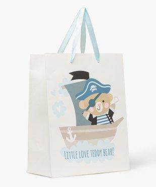 Pochette cadeau bébé avec motifs marin en papier recyclé vue1 - GEMO C4G BEBE - GEMO