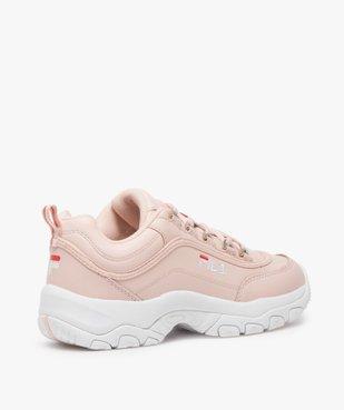 Baskets Dad shoes* femme à lacets et passants métallisés - Fila Strada Low vue4 - FILA - Nikesneakers