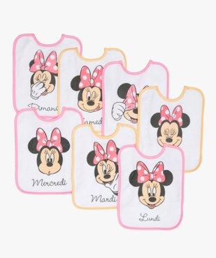 Bavoir bébé en éponge imprimé Minnie - Disney (lot de 7) vue1 - MINNIE - GEMO
