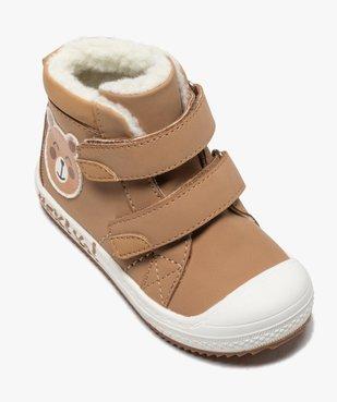Boots fourrées bébé garçon à scratch vue5 - GEMO(BEBE DEBT) - GEMO