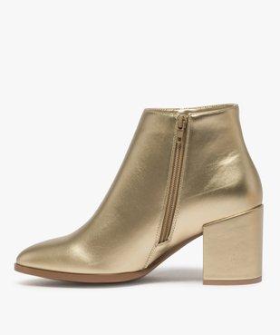Boots femme à talon unis tige métallisée vue3 - Nikesneakers(URBAIN) - Nikesneakers