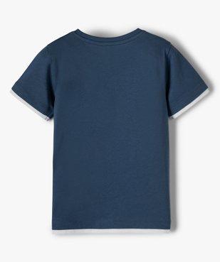 Tee-shirt garçon effet 2 en 1 avec large motif dinosaure vue4 - GEMO C4G GARCON - GEMO