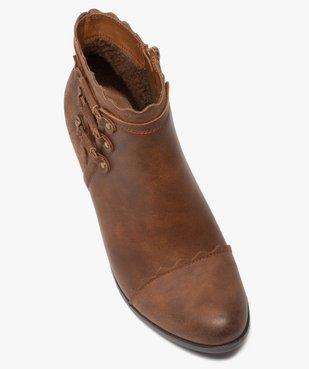 Boots femme unis à talon finitions fantaisie vue5 - GEMO(URBAIN) - GEMO