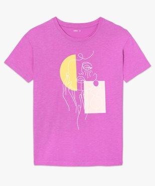 Tee-shirt femme oversize imprimé vue4 - GEMO(FEMME PAP) - GEMO