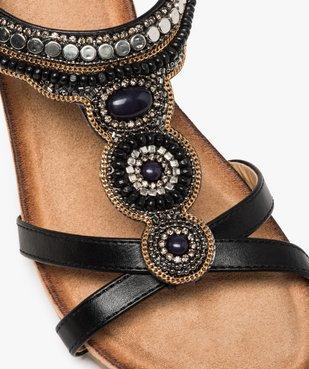 Sandales femme à talon et brides élastiques dessus perles vue6 - GEMO(URBAIN) - GEMO