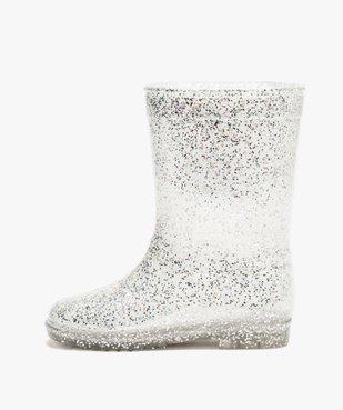 Bottes de pluie fille à paillettes argentées Reine des neiges vue3 - REINE DES NEIGE - GEMO