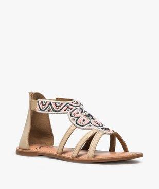 Sandales fille zippées ornées de perles et de strass vue2 - GEMO (ENFANT) - GEMO