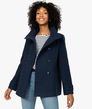 Manteau court femme avec double rangée de boutons vue2 - Nikesneakers(FEMME PAP) - Nikesneakers