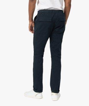 Pantalon homme en toile avec taille élastiquée vue3 - Nikesneakers (HOMME) - Nikesneakers
