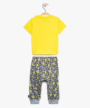 Ensemble bébé garçon (2 pièces) : tee-shirt + pantalon - SmileyWorld vue2 - SMILEY - GEMO