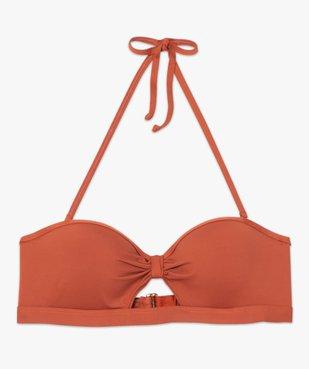 Haut de maillot de bain femme forme bandeau à armatures vue4 - GEMO (PLAGE) - GEMO