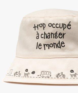 Chapeau bébé garçon forme bob avec message vue3 - GEMO(BEBE DEBT) - GEMO