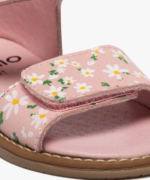 Sandales bébé fille à talon fermé et brides en cuir imprimé vue6 - GEMO(BEBE DEBT) - GEMO