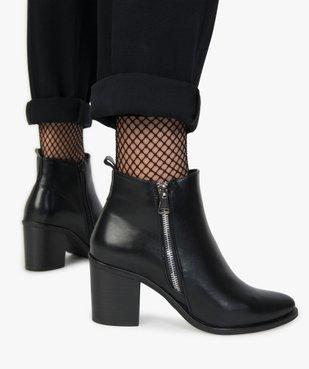 Boots femme à talon avec zip sur le côté vue1 - GEMO(URBAIN) - GEMO