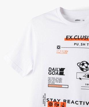 Tee-shirt garçon imprimé à manches courtes vue3 - GEMO (JUNIOR) - GEMO