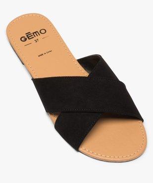 Sandales femme à larges brides croisées souples dessus suédine vue5 - GEMO (CASUAL) - GEMO