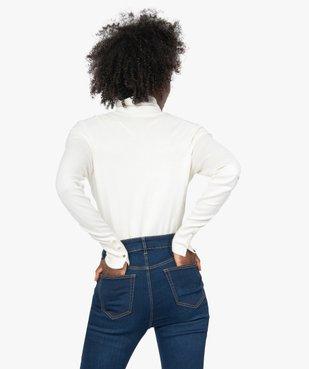 Pull femme à col roulé et boutons sur les poignets vue3 - GEMO(FEMME PAP) - GEMO