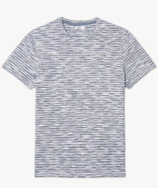 Tee-shirt homme à manches courtes et rayures vue4 - GEMO (HOMME) - GEMO
