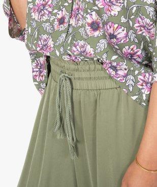 Bas de pyjama femme large et satiné vue2 - GEMO(HOMWR FEM) - GEMO