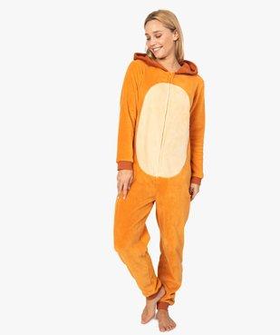 Combinaison d'intérieur femme à capuche à motif Bambi - Disney vue1 - DISNEY - GEMO
