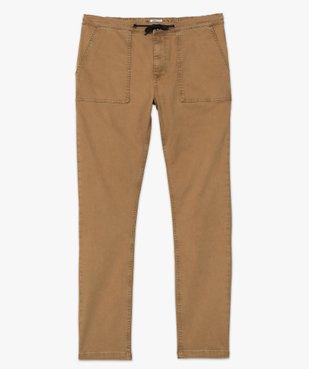Pantalon homme en toile avec taille élastiquée vue4 - Nikesneakers (HOMME) - Nikesneakers