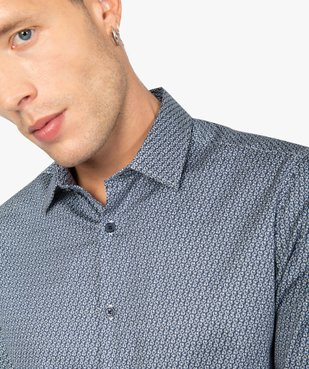 Chemise homme imprimée coupe slim vue2 - Nikesneakers (HOMME) - Nikesneakers