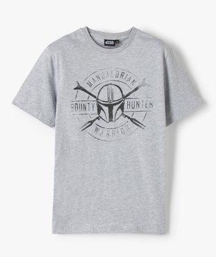 Tee-shirt garçon à manches courtes avec motif XXL – Star Wars vue1 - THE MANDALORIAN - GEMO