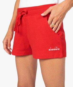 Short de sport femme en maille extensible - Diadora vue2 - DIADORA - GEMO
