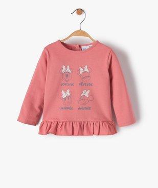 Tee-shirt bébé fille à manches longues et volants - Disney vue1 - DISNEY DTR - GEMO