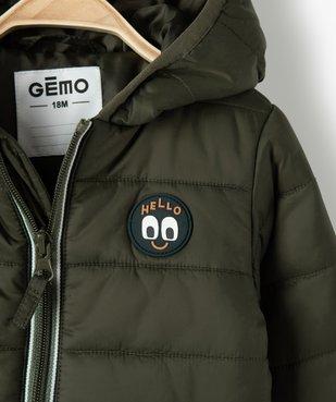 Doudoune bébé garçon à capuche et détails contrastants vue2 - GEMO(BEBE DEBT) - GEMO