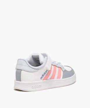 Baskets fille à lacets et scratch – Adidas Breaknet vue4 - ADIDAS - Nikesneakers
